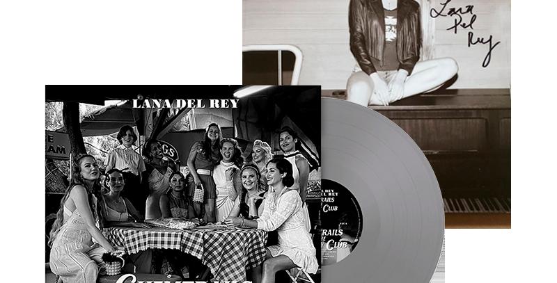 Lana Del Rey - LP Chemtrails Over the Country Club  Prata+Litografia Autografada