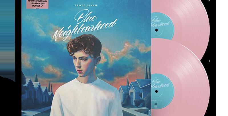 Troye Sivan - 2x LP Blue Neighbourhood Limitado Rosa 5th Anniversary