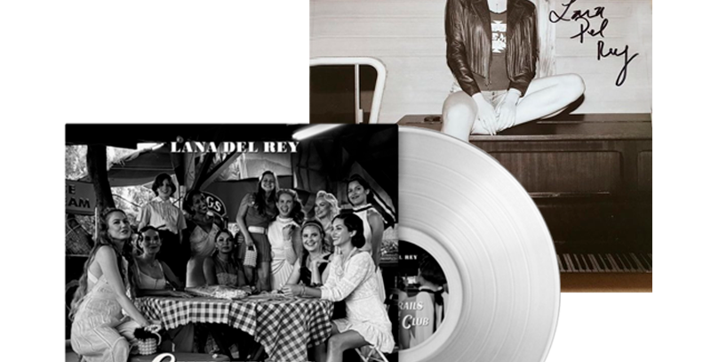 Lana Del Rey - LP Chemtrails Over the Country Club  Clear+Litografia Autografada