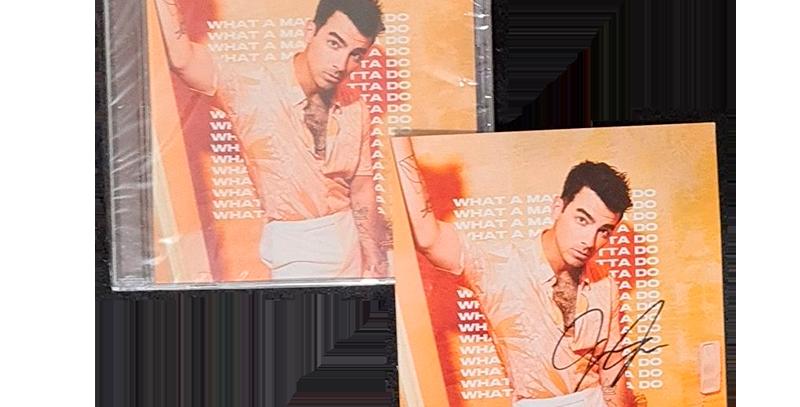 Jonas Brothers - CD Single What A Man Gotta Do (Autografado Joe)