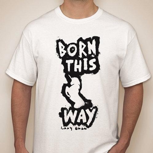 "Camisa Lady Gaga ""Born This Way"" Tamanho P"