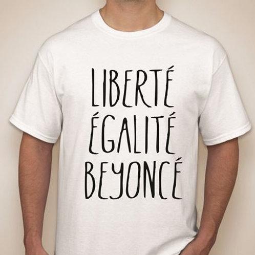 """Camisa Beyoncé """"Liberté, Egalité, Beyoncé"""" Tamanho G"""