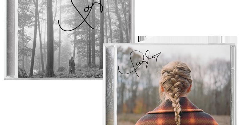 Taylor Swift - 2x CD Autografados Evermore + Folklore