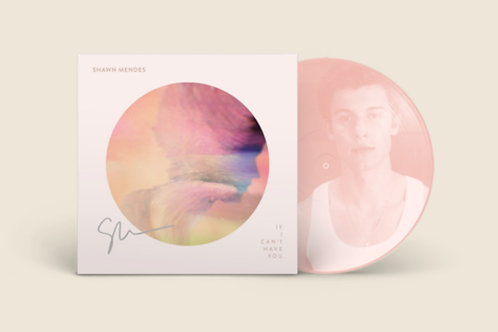 """Shawn Mendes - LP Autografado 7"""" Picture Disc I """"If I Can't Have You"""""""