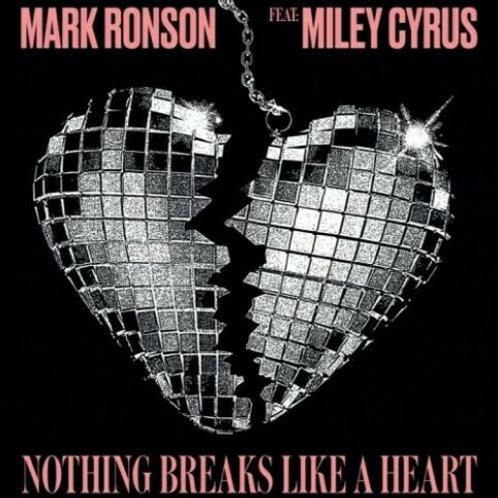 "Mark Ronson ft. Miley Cyrus - LP Nothing Breaks Like A Heart 12"" RSD Limitado"