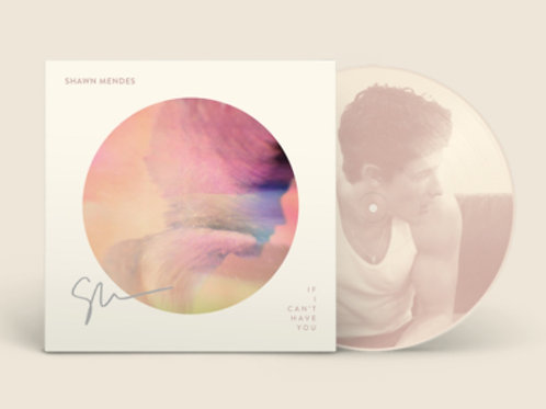 """Shawn Mendes - LP Autografado 7"""" Picture Disc II """"If I Can't Have You"""""""