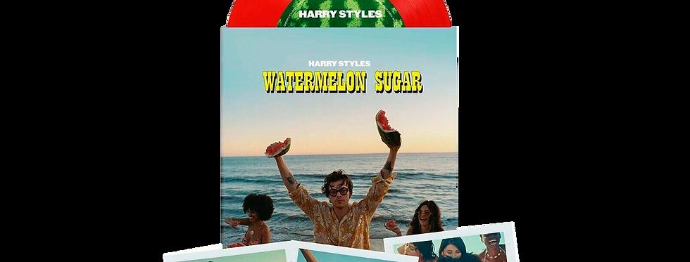 """Harry Styles - Vinil 7"""" Vermelho Watermelon Sugar  + 3 Polaroids Limitado"""
