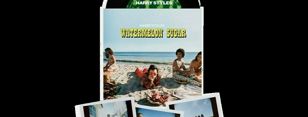 "Harry Styles - Vinil 7"" Preto Watermelon Sugar  + 3 Polaroids Limitado"
