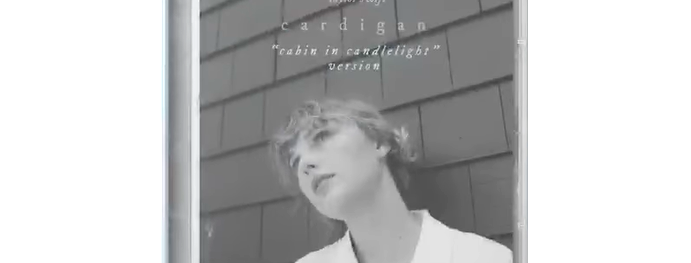 "Taylor Swift - CD Single cardigan ""cabin in candlelight"""