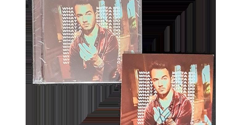 Jonas Brothers - CD Single What A Man Gotta Do (Autografado Kevin)