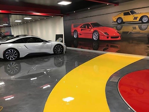 Metallic epoxy resin flooring systems, s