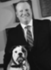 Attorney David Borack with his dog, Bosco