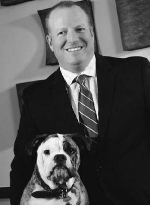 Attorney David Borack with his dog, Bosco