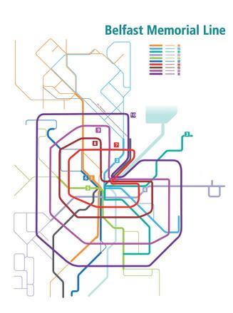Schematische Darstellung des Busliniennetzes