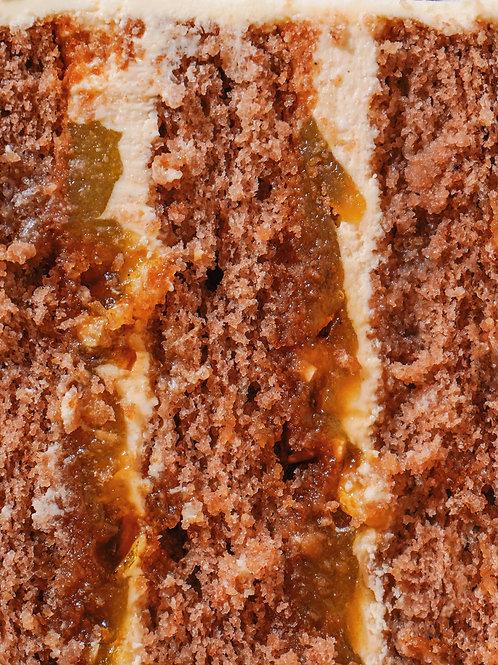 Тортик груша-солона карамель