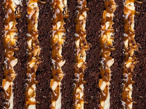 Тортик шоколадно-карамельний
