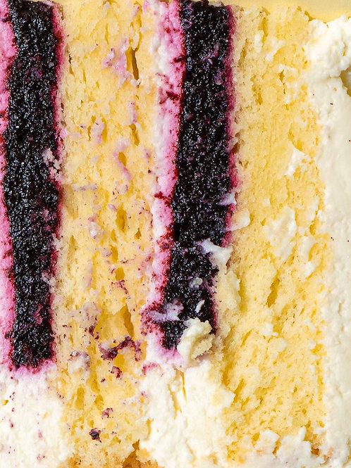 Торт черника-лимон