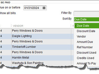 Paying Bills in QuickBooks: The Basics