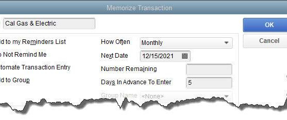 How to Use Memorized Transactions in QuickBooks