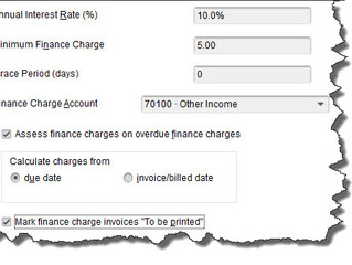 How to Apply Finance Charges in QuickBooks