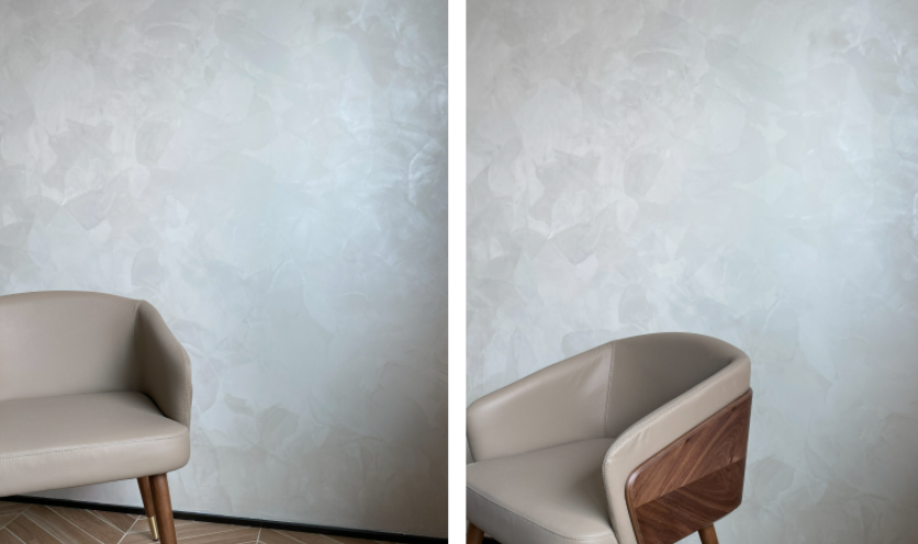 Decorative metallic texture coating on wall