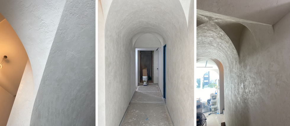Lime-based Plastering on wall