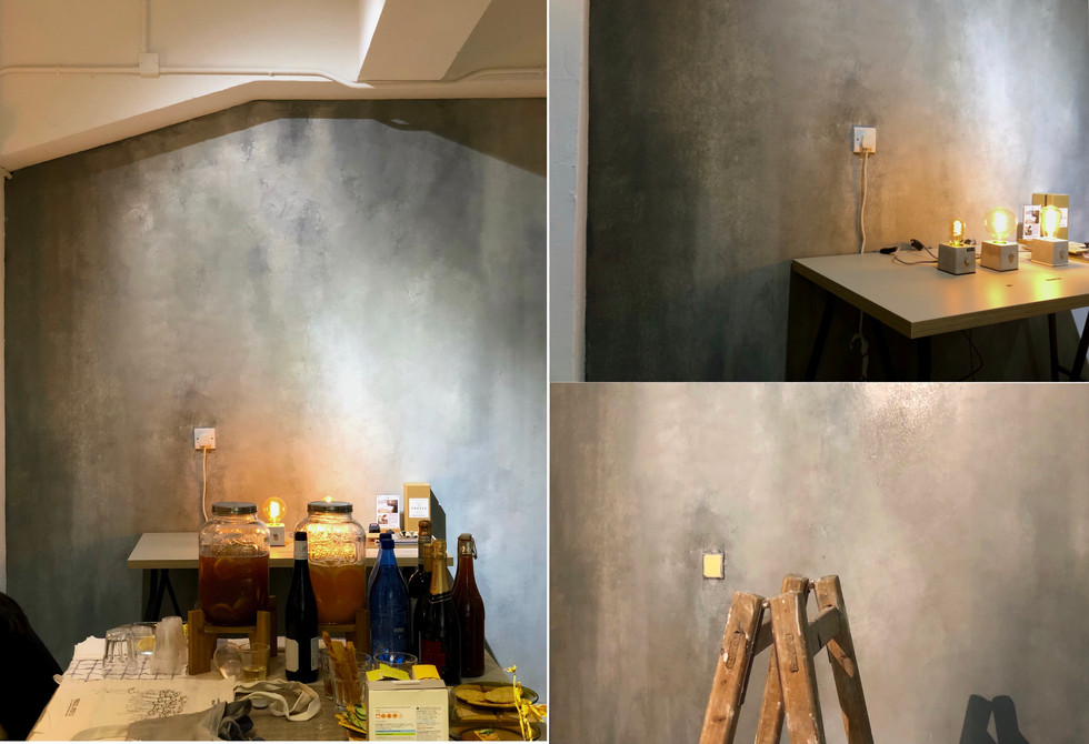 Texture painting on wall