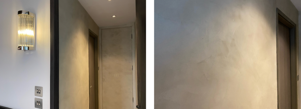 Lime based plastering on wall
