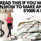 ONLY READ THIS IF YOU WANT TO LEARN HOW TO MAKE AN EXTRA $1000 A MONTH