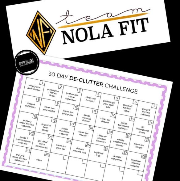 30 Day DeClutter Challenge | Nola Fit