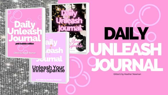 1-2-3 daily unleash journals!!  black, bubble gum & now pink bubbles! it's here!!