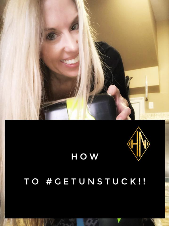 Steps to #GetUnstuck - out of a rut!