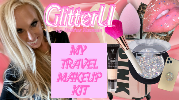 BUILD YOUR TRAVEL MAKEUP KIT WITH ME! LINKS TO EVERYTHING I USE - VIDEO ENCLOSED!