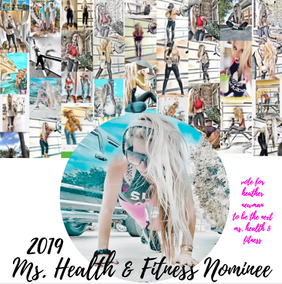 Your VOTE is much appreciated | Ms. Health & Fitness | I'm honored to be nominated! xo, Heat