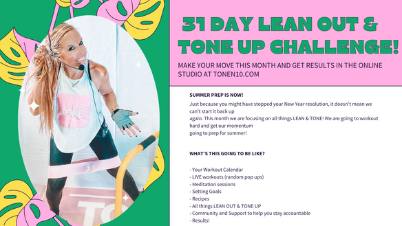 YOUR TONE UP & GET LEAN CHALLENGE WITH HEATHER NEWMAN!