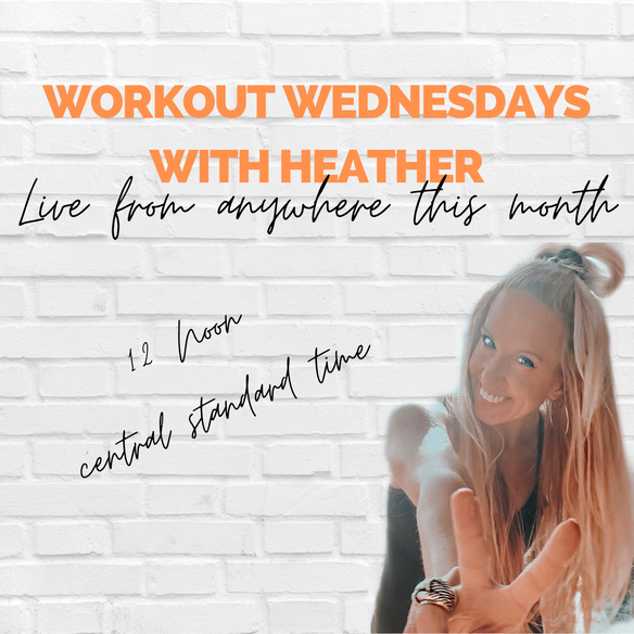 WORKOUT WEDNESDAYS: CHOOSE YOURSELF IN OCTOBER! join me this week live from your laptop at noon!