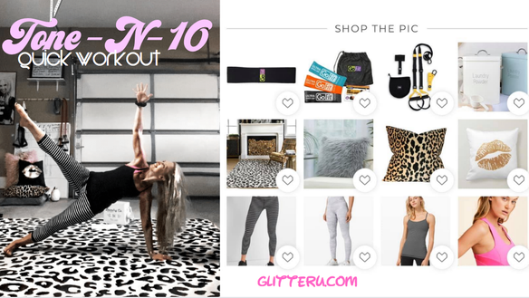 Tone -N-10! Quick at-home workout: GlitterU.com