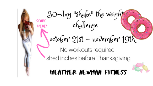 Holiday Hotness: 30-Day Shake The weight challenge