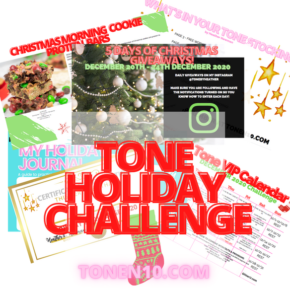 DON'T MISS OUT! YOUR HOLIDAY CHALLENGE GUIDE IS HERE!  LET'S GO SANTA BABY!