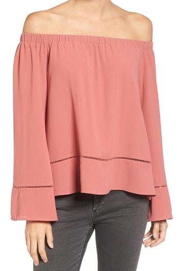 Pink Off the Shoulder Blouse