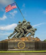 The US Marine Corps War Memorial in Arli