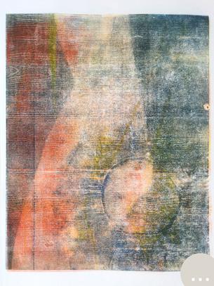Holzdruck auf Papier - Serie