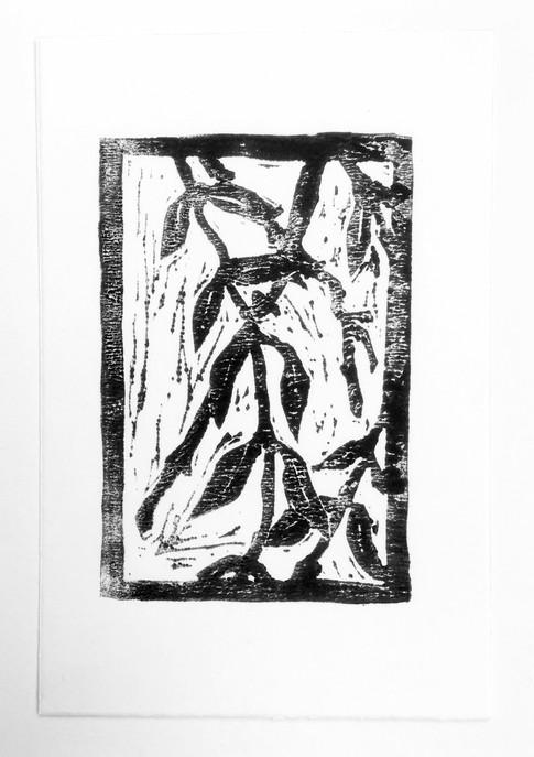 Linoldruck auf Papier