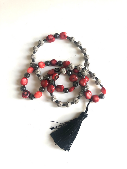 Grey/black lava bead Necklace