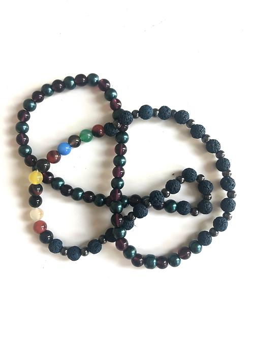 Navy lava bead Necklace