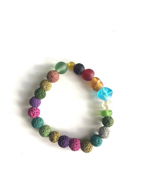 Mixed lava bead bracelet