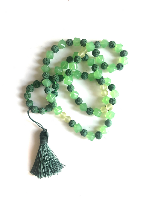 Green lava bead Necklace