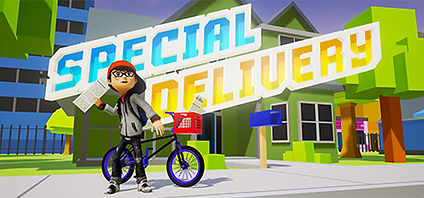 Special Delivery logo by Meerkat Gaming for Vive, Rift and PSVR