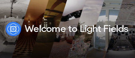 Welcome to Light Fields by Google Inc. logo