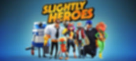 Slightly Heroes by Hatrabbit Entetainment logo